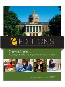 Image for Studying Students: The Undergraduate Research Project at the University of Rochester--eEditions e-book