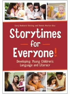book cover for Storytimes for Everyone! Developing Young Children's Language and Literacy