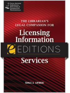 Image for The Librarian's Legal Companion for Licensing Information Resources and Services--eEditions PDF e-book