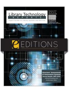 Image for Librarians' Assessments of Automation Systems: Survey Results, 2007–2010--eEditions e-book