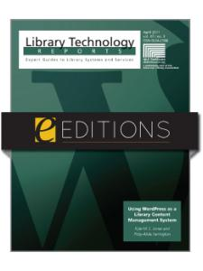 Image for Using WordPress as a Library Content Management System--eEditions e-book