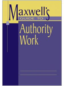 Image for Maxwell's Guide to Authority Work