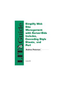 Image for Simplify Web Site Management with Server-Side Includes, Cascading Style Sheets, and Perl: LITA Guide 8