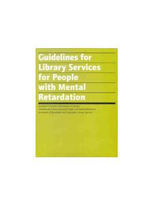 Image for Guidelines for Library Services for People with Mental Retardation