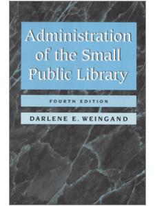 Image for Administration of the Small Public Library, 4th Edition