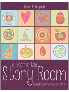 book cover for A Year in the Story Room: Ready-to-Use Programs for Children