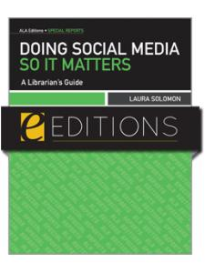 Image for Doing Social Media So It Matters: A Librarian's Guide--eEditions e-book