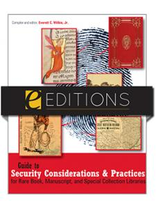 Image for Guide to Security Considerations and Practices for Rare Book, Manuscript, and Special Collection Libraries--PDF e-book