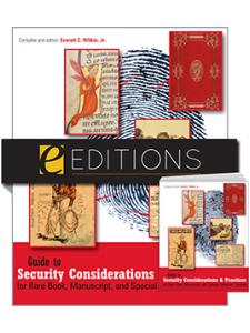 Image for Guide to Security Considerations and Practices for Rare Book, Manuscript, and Special Collection Libraries—print/PDF e-book Bundle