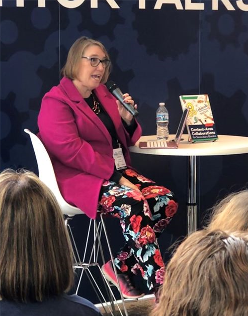 photo of author Liz Deskins at the AASL Conference in 2019