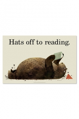 Hats Off to Reading Poster