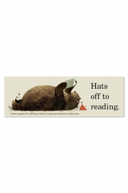 Hats Off to Reading Bookmark
