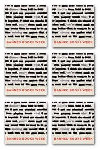 2013 Banned Books Week Button 6/pack