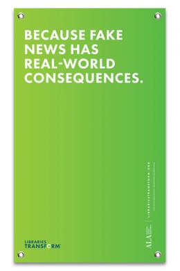 Because Fake News Banner