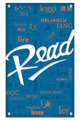 Blue Multilingual Read Banner