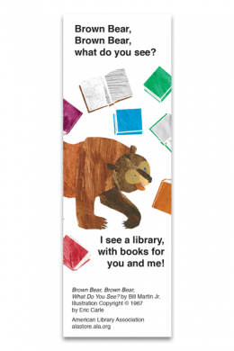 Brown Bear Bookmark