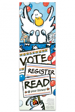 Duck for President Bookmark
