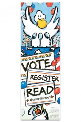 Duck for President Bookmark