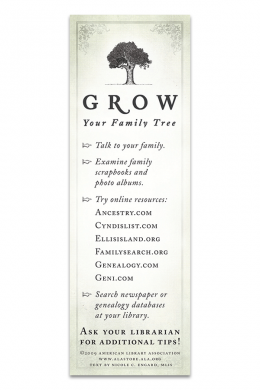 Family Tree Bookmark | ALA Store