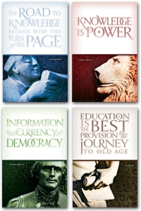 Knowledge is Power Poster Set