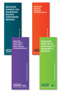 Libraries Transform Bookmark Pack