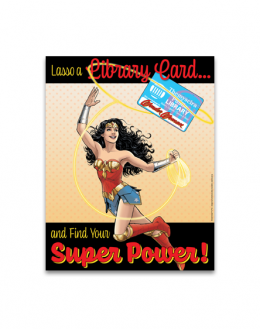 Lasso a Library Card Poster