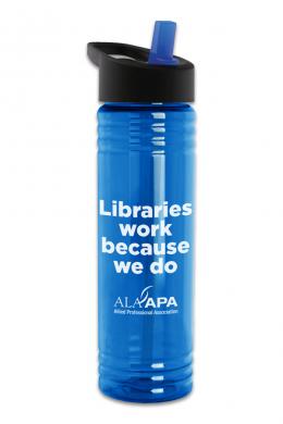 Libraries Work Water Bottle