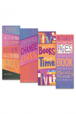 Libraries and Books Bookmark Set