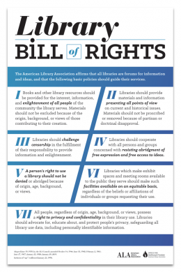 Library Bill of Rights Poster