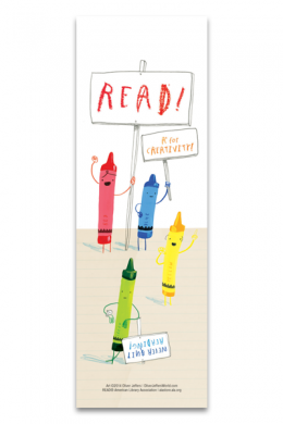 Never Quit Reading Bookmark
