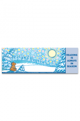 Old Bear Bookmark Winter