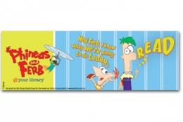 Phineas and Ferb Bookmark
