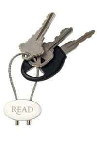 READ Silver Keychain