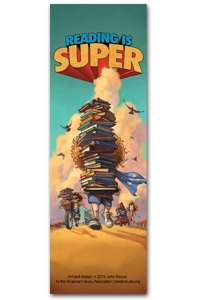 Reading is Super Bookmark