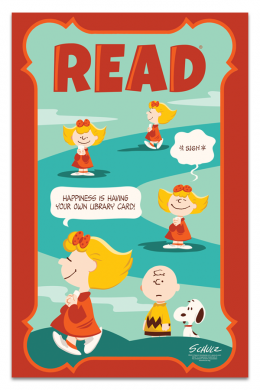 Sally Library Card Poster