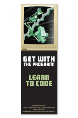 Secret Coders Bookmark