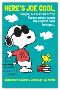 Snoopy Library Card Poster