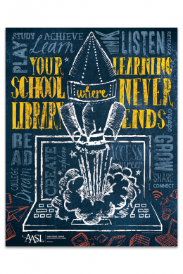 Your School Library Poster
