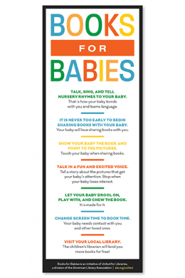 Books for Babies Rack Card (English)