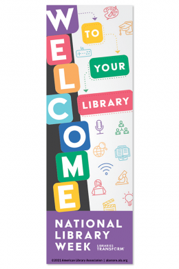 2021 National Library Week Bookmark