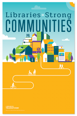 Libraries = Strong Communities Mini Poster