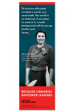 Ross Libraries Transform Bookmark