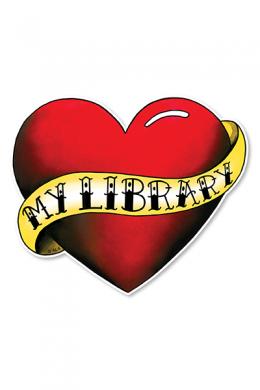 Love My Library Tattoo Window Decal