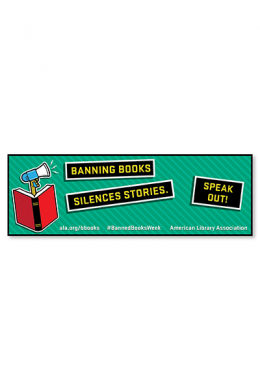 Speak Out Banned Books Bookmark