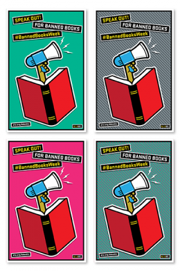Speak Out Banned Books Mini Poster File