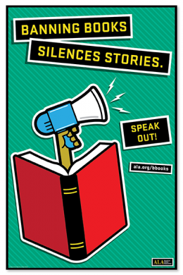Speak Out Banned Books Poster