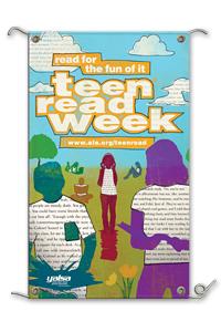Teen Read Week Banner Words