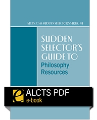 cover image for Sudden Selector's Guide to Philosophy Resources—eEditions PDF e-book