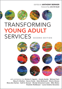 book cover for Transforming Young Adult Services, Second Edition