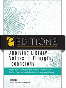 book cover for Applying Library Values to Emerging Technology—eEditions PDF e-book